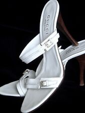 ORIGINAL★ GUCCI ★ BUSINESS PUMPS ★SCHUHE SANDALEN ★ 39 C ★ WEIß★ EXZELLENT