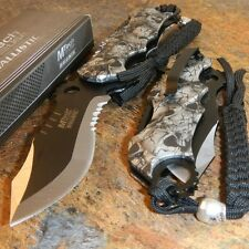 MTECH Ballistic BOWIE Black GREY SKULL CAMO Spring Assisted Opening Pocket Knife