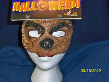 ADULT OR KIDS WEREWOLF WOLF ANIMAL HALF SOFT LATEX FACE MASK COSTUME TA494
