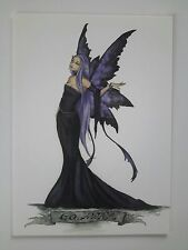AMY BROWN NEW & MINT FAIRY POSTCARD/MINI ART PRINT -GO AWAY Faerie