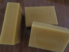1 1/2 Pounds (24 oz) Natural Filtered Pure Beeswax Blocks 100% - Cosmetic Grade