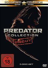 Uncut - PREDATOR COLLECTION 1 2 3 Predators SCHWARZENEGGER Glover 3 DVD Box Neu