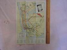 1939 New York City NYC SUBWAY MAP RARE WORLDS FAIR NYWF + Roadmap A.S. BECK