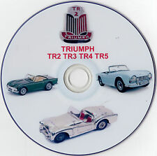 TRIUMPH TR2 TR3 TR4 TR5 WORKSHOP MANUALS PLUS VIDEOS AND DISC