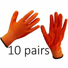 10 x NITRILE COATED WORKING WORK GLOVES GARDEN CONSTRUCTION BUILDERS Size XL