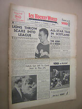 ICE HOCKEY WORLD. 5th APRIL 1952. VINTAGE NEWSPAPER MAGAZINE. SKATING. SPORTS