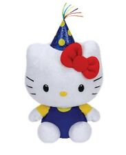 TY Beanie Babies 6'' Plush HELLO KITTY PARTY HAT ~NEW~