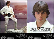 """Hot Toys Star Wars Episode A New Hope Luke Skywalker 1/6 12"""" Figure In Stock"""