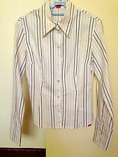 ♥ ESPRIT Long Sleeves Fitted Stripes Shirt - S