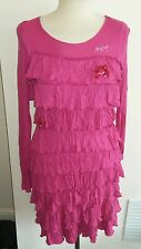 Miss sixty pink layered dress size m