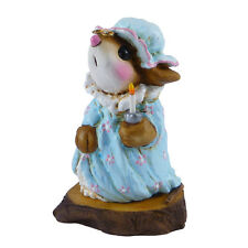 """Wee Forest Folk M-14s """"Nightie Mouse"""" Forget-me-nots Collection"""