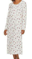 CROFT & BARROW Women's Red Cardinal Soft Brushed Knit Maxi Nightgown Size S