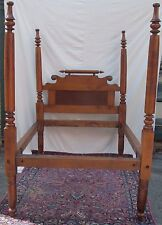 18TH CENTURY FEDERAL PERIOD TIGER MAPLE FOUR POSTER BED-OUR VERY BEST!