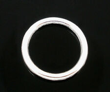 200PCs Silver Plated Soldered Closed Jump Rings Jewelry Findings 10mm