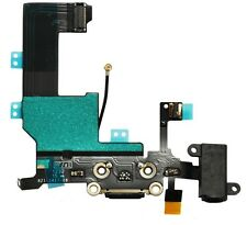 Black Iphone 5 5G Headphone Audio Charger Charging Data USB Port Flex Cable