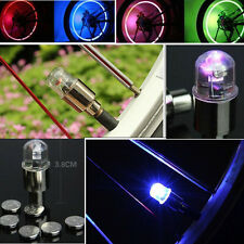 2x Flash Bicycle Car Wheel Tire Tyre Valve Cap LED Light Waterproof Color Random