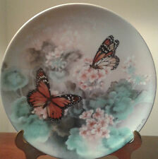 BRADFORD EXCHANGE LENA LIU GOSSAMER WINGS 8 COLLECTOR BUTTERFLY PLATE COLLECTION