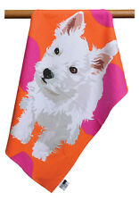 Leslie Gerry West Highland Terrier  Westie Dog Design Tea Towel