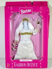 NIB BARBIE DOLL FASHION 1997 FASHION AVENUE BRIDAL WEDDING GOWN
