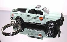 2016 Matchbox '15 Dodge Ram 1500 Police Forest Ranger Custom Key Chain Ring!