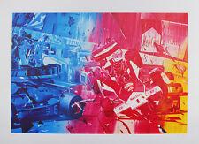 Jacques Monory  Lithographie Originale Signée Numerotée Toxique F1 Formule 1