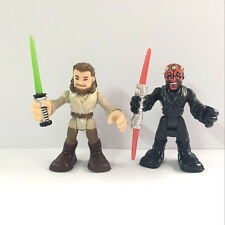 Star Wars Playskool Galactic Heroes Jedi Force DARTH MAUL & QUI-GON JINN figure