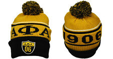 ALPHA PHI ALPHA BLACK GOLD BALL BEANIE CAP MENS SKI BEANIE HAT Beanie #06 GOLD