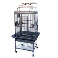 Flyline Grey Palace Play top Bird Cage 10mm Bar Space Parrot Aviary 13325