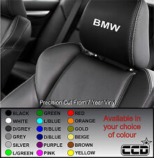 BMW CAR SEAT / HEADREST DECALS - 320 330 Z3 Z4 LOGO Vinyl Stickers - Graphics X5