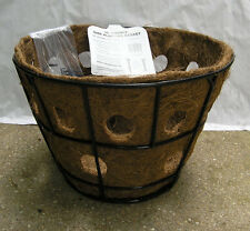 "16"" Hanging basket planter with double row side planter liner by Pamela Crawford"