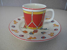 Tiffany & Co Porcelain Plate and Cup set Tiffany Toys for child made Japan 1992