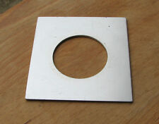early  Linhof 69 style Lens board panel for compur copal 1 41.8mm hole 82 x 75