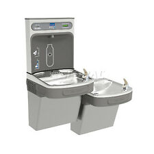 Elkay Lzstl8wslk Water Refilling Station, Bi-Level, W/Filter, Light Gray