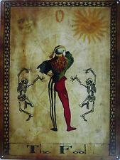 The Fool Tarot Card O Metal Sign