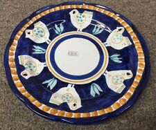 Vietri Pottery-10 Inch Plate Chicken campagna Made/Painted by hand-Italy NEW!!!