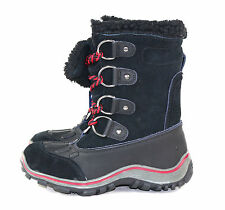 Pajar Womens Alina Lace Up Mid Calf Winter Snow Boot Black Size 38 EU 7 - 7.5 US