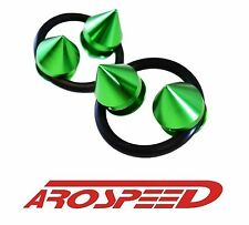 AROSPEED GREEN SPIKE CNC BUMPER TRUNK QUICK RELEASE FASTENER KIT FOR NISSAN