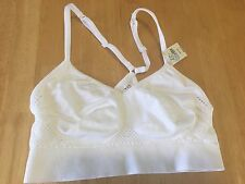 Victoria's Secret Pink Seamless Lounge Bralette Sports Bra White Small NWT