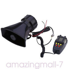 New 12V Ambulance Police Car Boat Megaphone Loud Speaker Siren Horn Alarm 100W