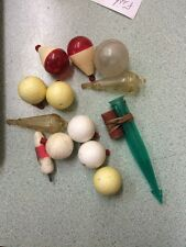 lot of 13 VINTAGE CORK BOBBERS - FLOATS - FISHING TACKLE plastic