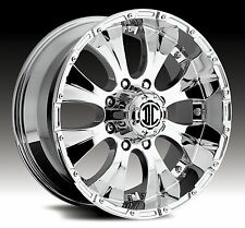 20x9.0 2Crave Extreme NX2 Off-Road Chrome Truck/Suv Wheels Lifted Fitment Rims