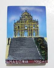 ▓ MACAU RUINS OF ST PAUL W/ STAND RESIN FRIDGE / REF MAGNET COLLECTIBLE SOUVENIR