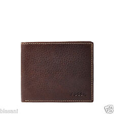 Fossil Original ML3567200 Dark Brown Lincoln Bifold Leather Men's Wallet