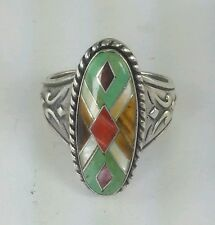 Carolyn Pollack Relios Inc. Southwestern Sterling Silver and Gemstone Ring  S: 9