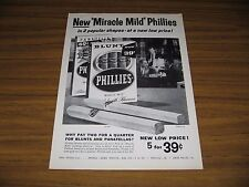1959 Print Ad Phillies Miracle Mild Blunt & Panatella Cigars Men Smoking