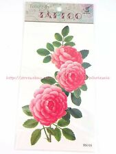 US SELLER-fake tatto large pink flower tattoo temporary cheap temporary tattoos