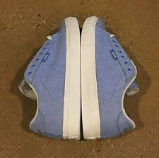 Lakai Howard Select Size 8 US Blue Chambray Canvas BMX DC Skate Shoes Deadstock