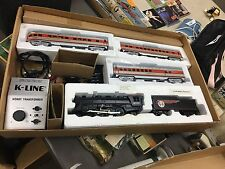 K-Line K-1116 O Gauge Santa Fe Steam Chief Passenger Train Set w/Railsounds