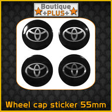 4x Toyota Emblem Wheel Centre Cap Sticker Logo Badge Wheel Trims 55mm
