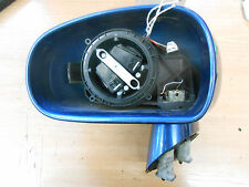 AUDI TT 8N MK1 2003 NS PASSENGER SIDE ELECTRIC DOOR WING MIRROR NO GLASS BLUE